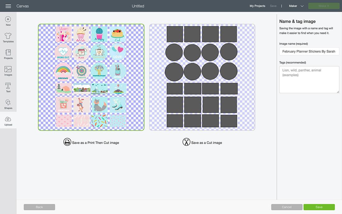 Uploading files to Cricut Design Space