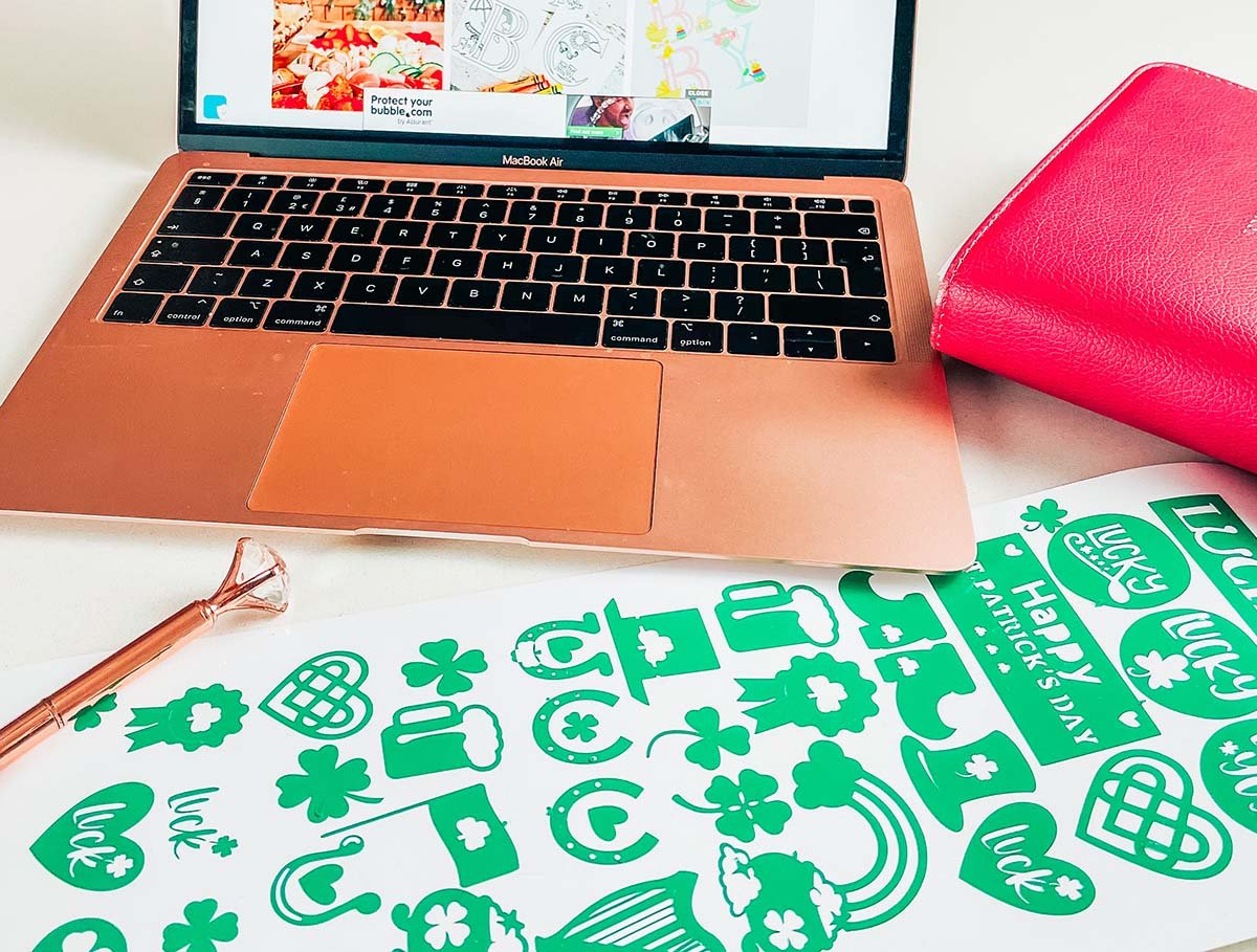 Vinyl sticker template for Cricut Joy St. Patricks Day Stickers