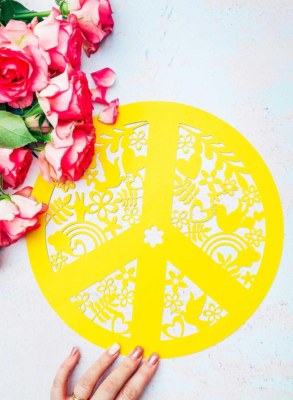 peace sign cut file for Cricut or Silhouette