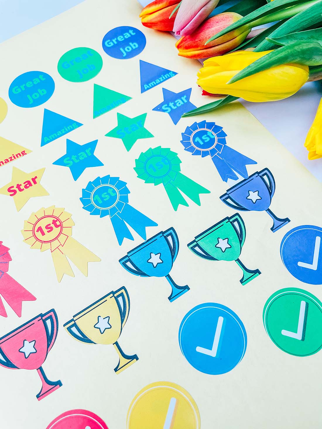 Bright planner stickers for home school and teachers