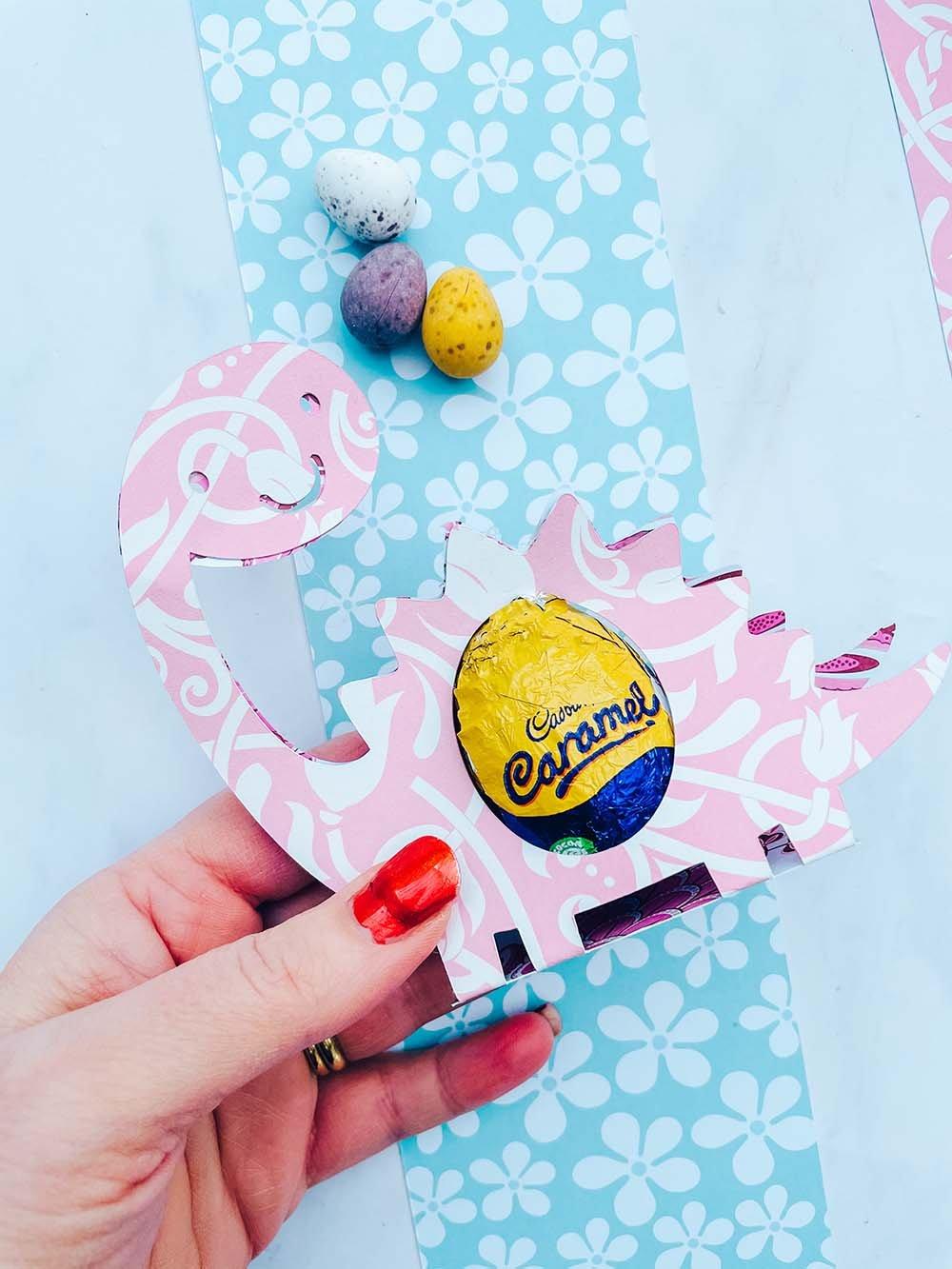 Downloadable Cricut Template For A Castle Easter Egg Holder