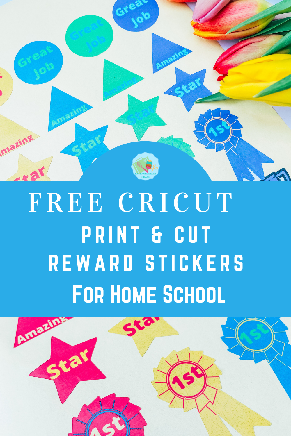Free Cricut Print and cut reward stickers for home school