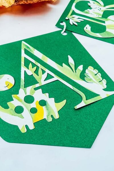 Free Dinosaur Alphabet and numbers for crafting with kids