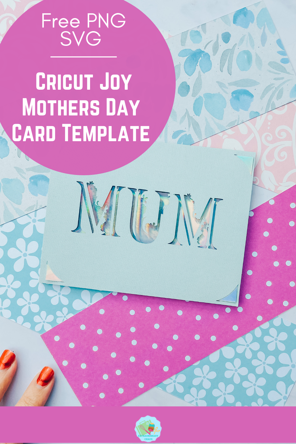 Free PNG SVG Mothers Day Card Template