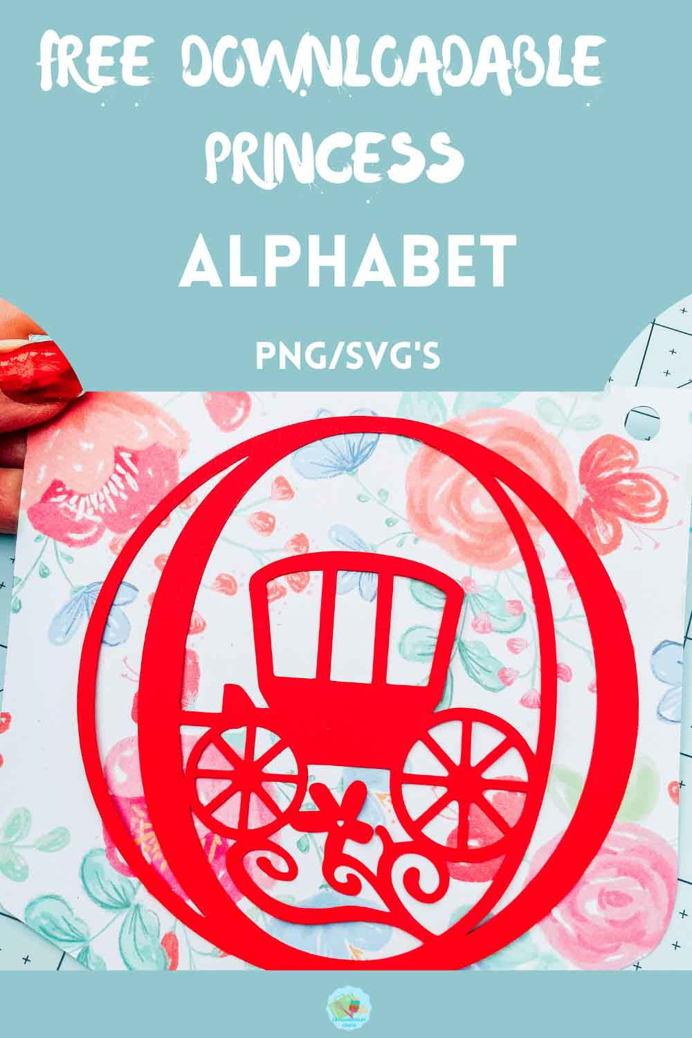 Free PNG_ SVG Princess Alphabet and numbers for scrapbooking and crafting