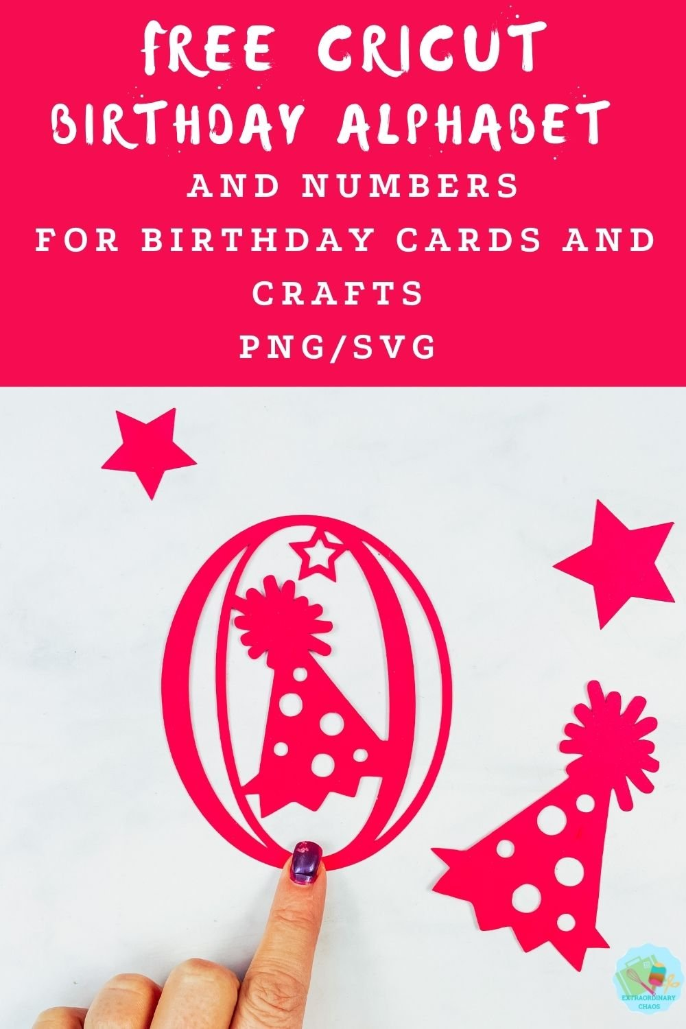 Free downloadable Birthday Alphabet and number template for parties, banners, card making, banners , birthday decorations, and invitations