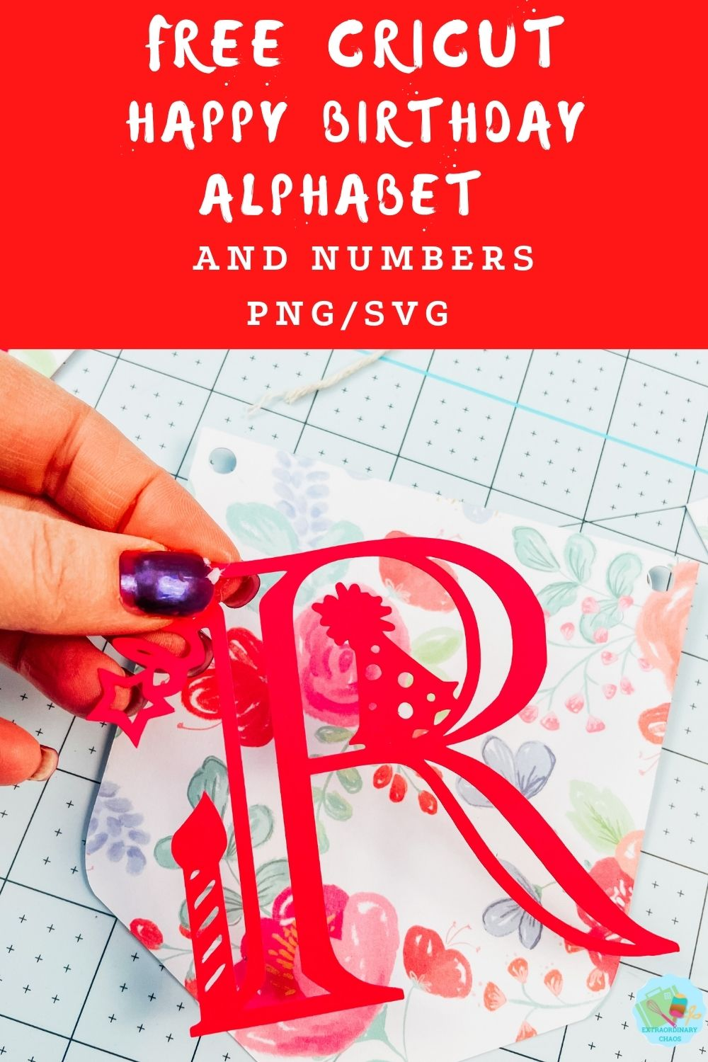 Free downloadable Happy Birthday Alphabet and number template for parties, banners, card making and invitations