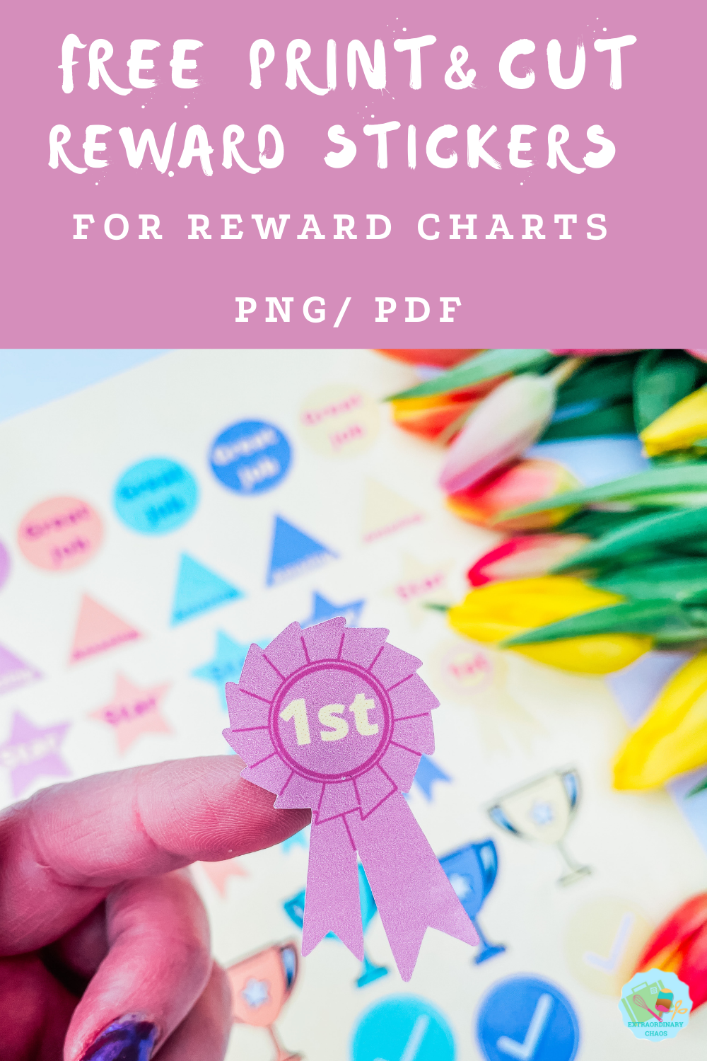 Free printable reward stickers for reward charts, home school  and crafting with kids