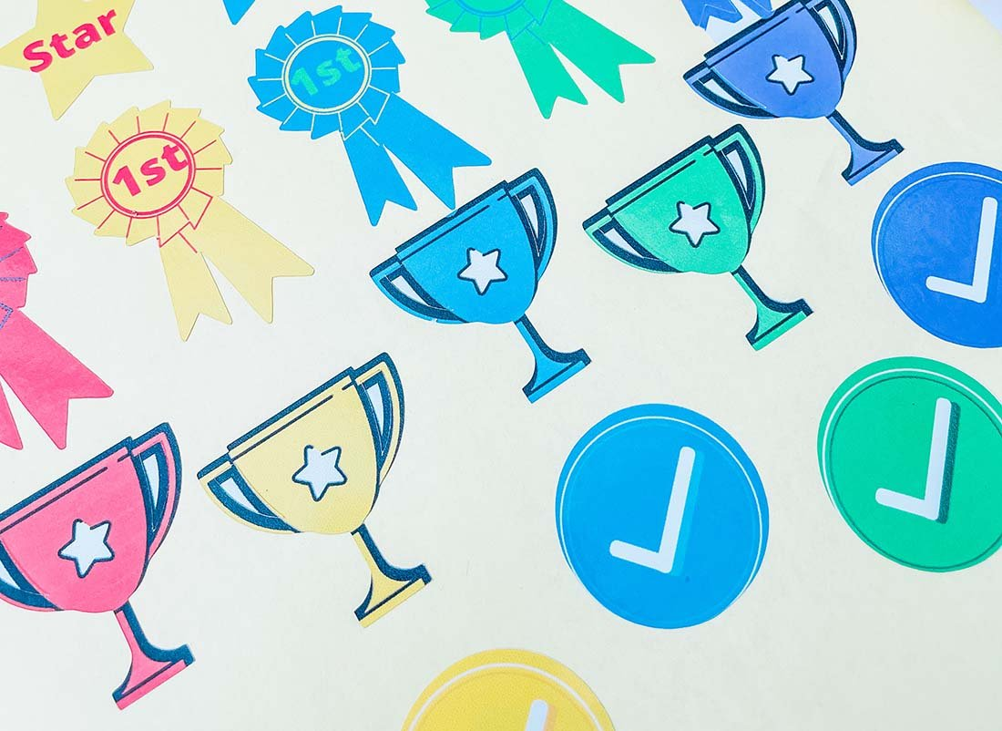 Free printable reward sticker sheets for teachers