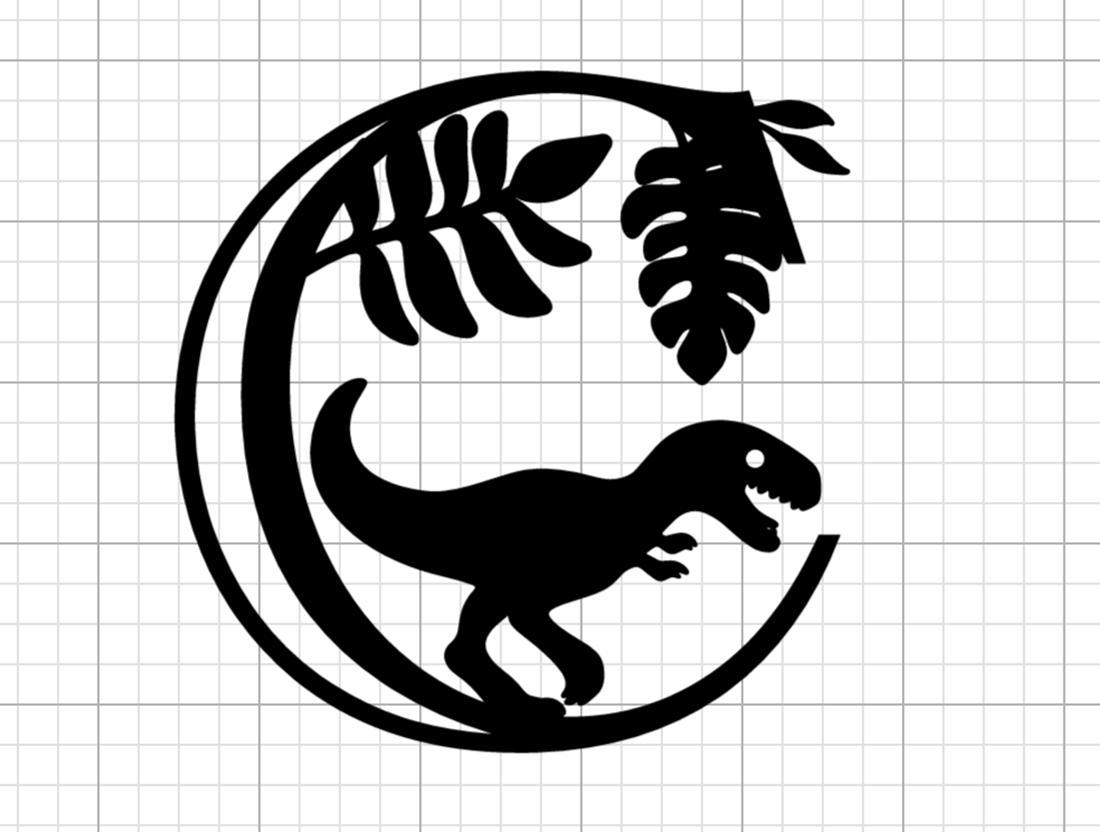 How to make a dinosaur cut file Alphabet