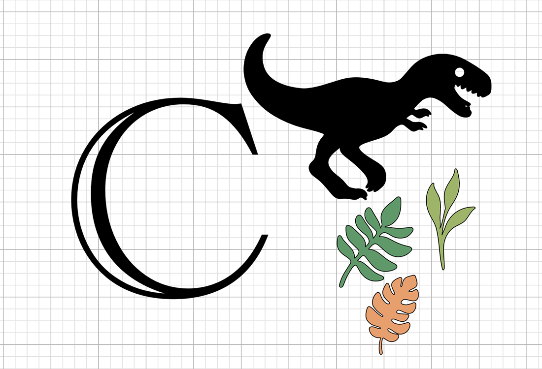How to make a dinosaur cut file letter