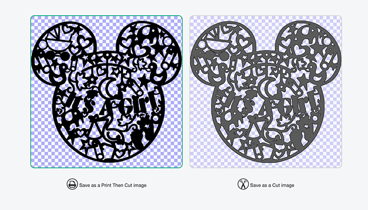 How to upload your Mickey Gender Reveal file to Cricut Design Space