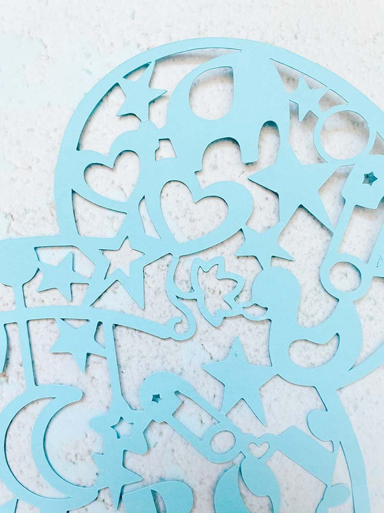 Mickey cut files for new baby boy and girl gifts