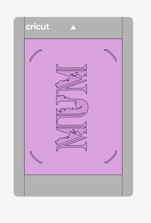 Resized card image in the Cricut Joy Card Mat