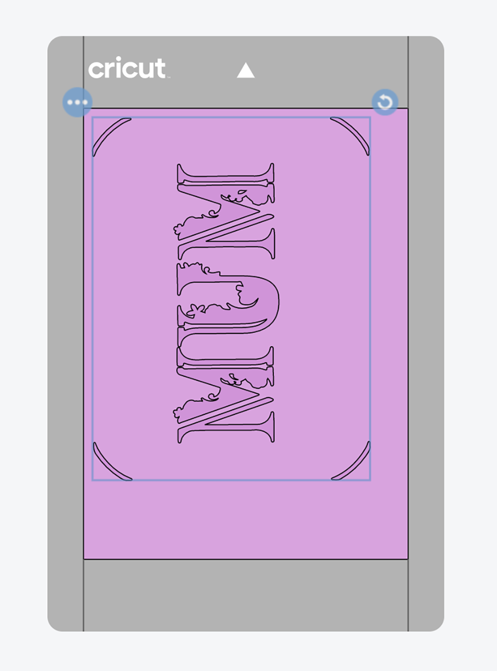 You can see the card position on the card in cut preview and can move in on the mat for perfect placement