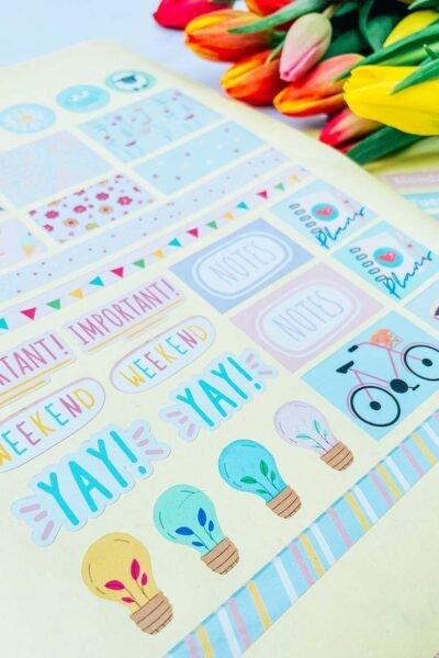 Cricut free print and cut planner sticker template