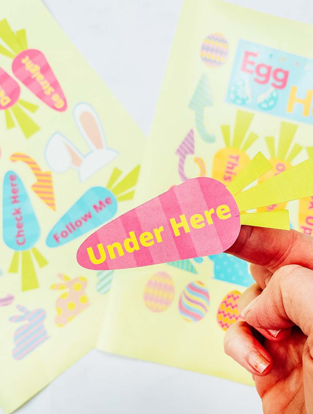 Downloadable easter egg hunt stickers