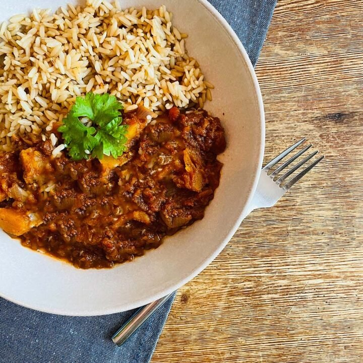 Easy Butternut squah curry recipe for the slow cooker