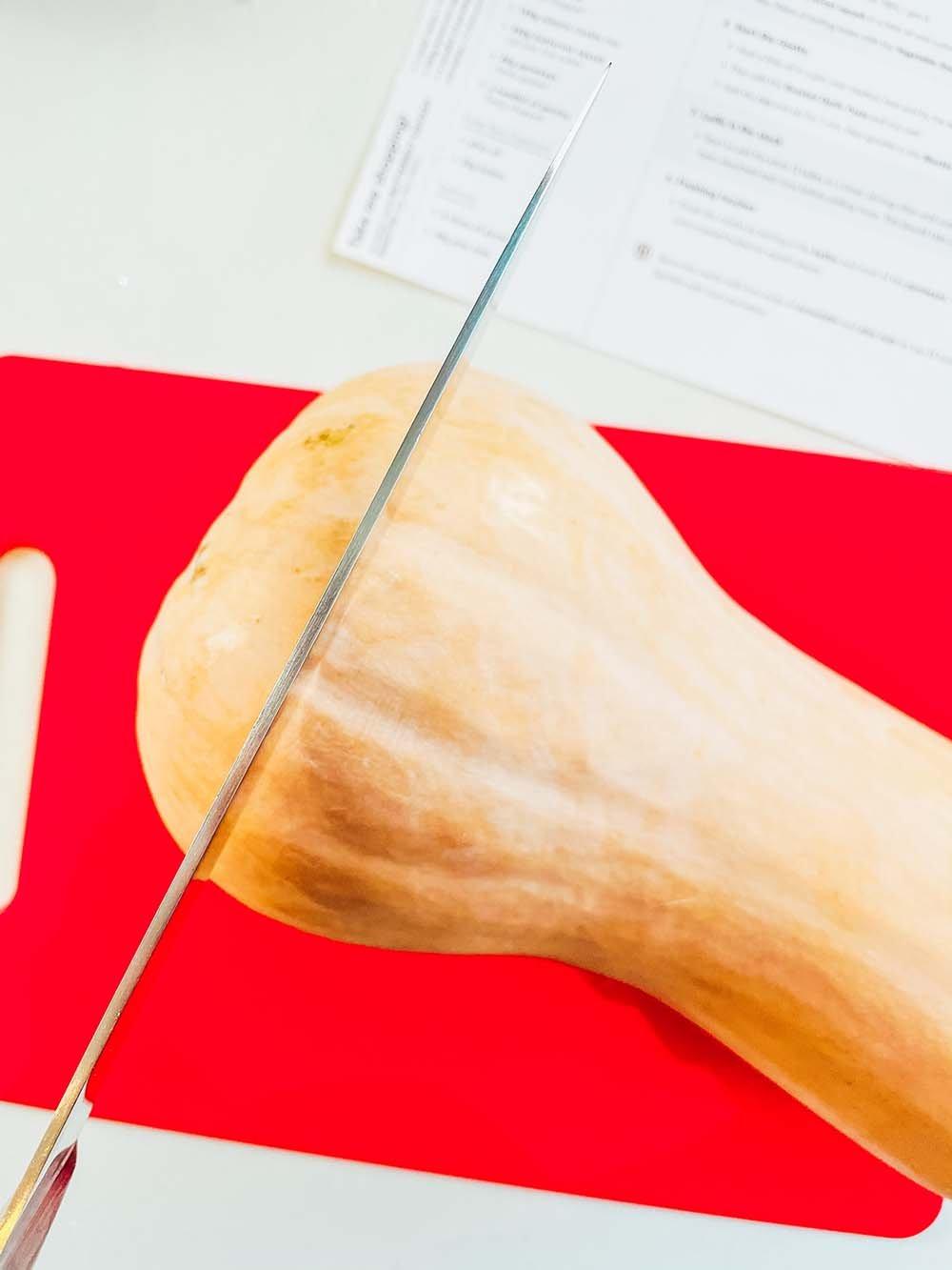 How to cut a butternut squash