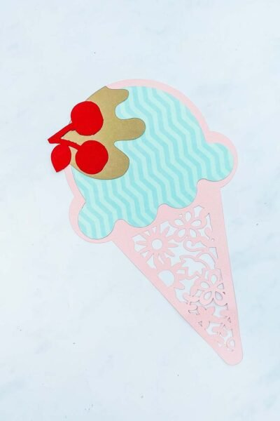 Ice Cream Cut File For Scrapbooking