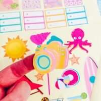 Glossy Sticker Paper 12 pack
