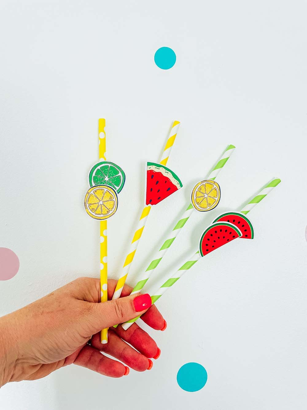 Fruit Straw Topper SVG For Summer Parties