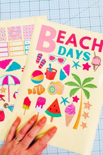 Printables for Beach Scrapbook layouts
