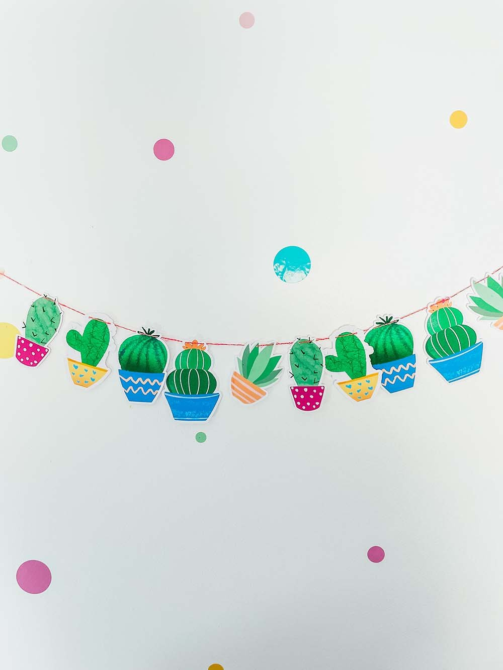 How to make a cactus banner for parties