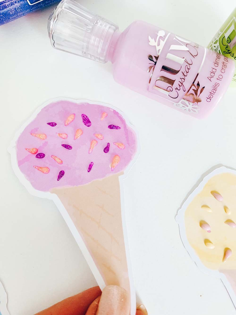 Using Nuvo Drops for Ice Cream sprinkles in crafting