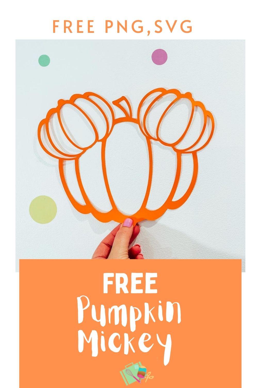 Free Halloween Alphabet pumpkin Mickey SVG PNG