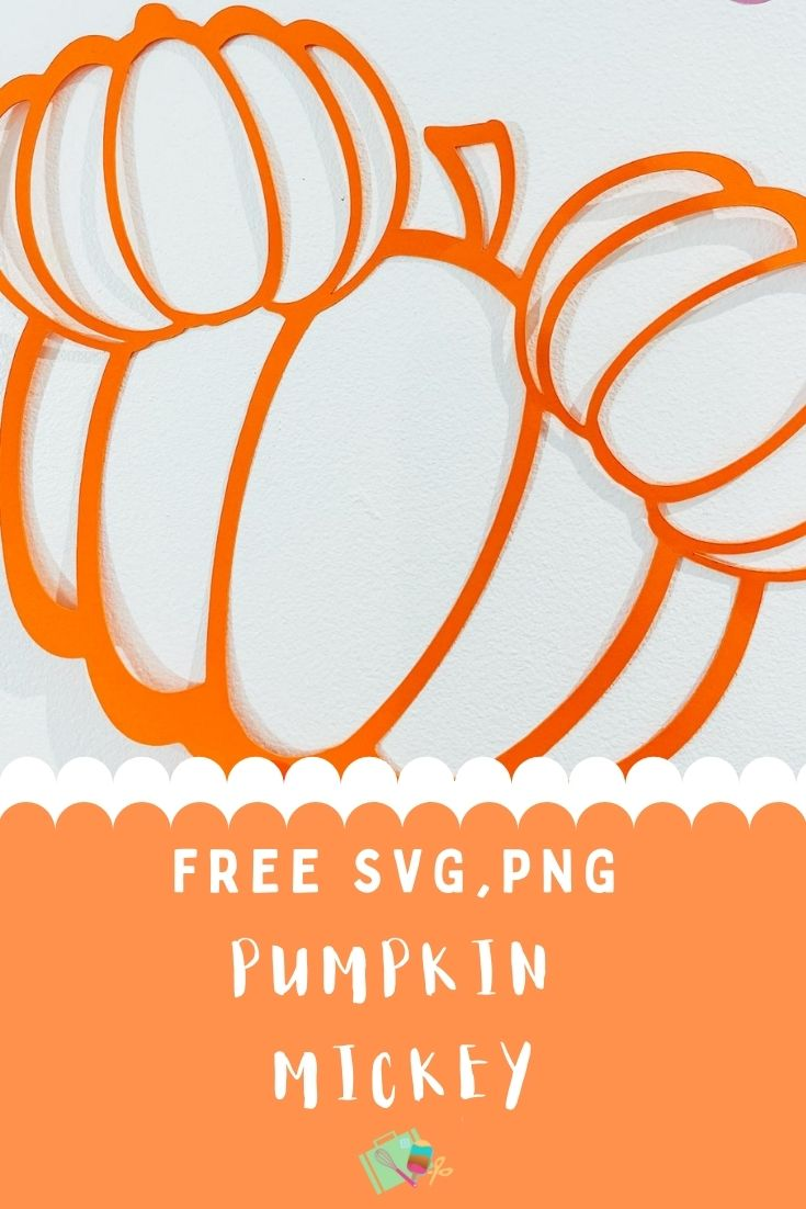 Free halloween Pumpkin Mickey cut file for Halloween Decorations or cards making-2
