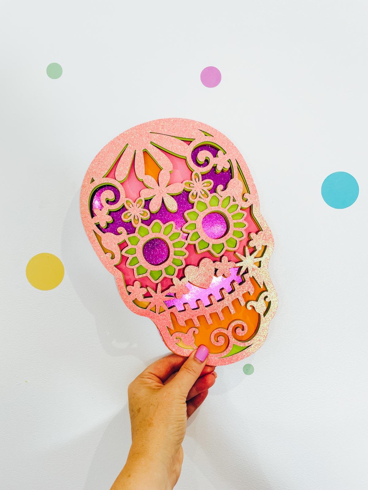 A Free Layered Sugar Skull SVG