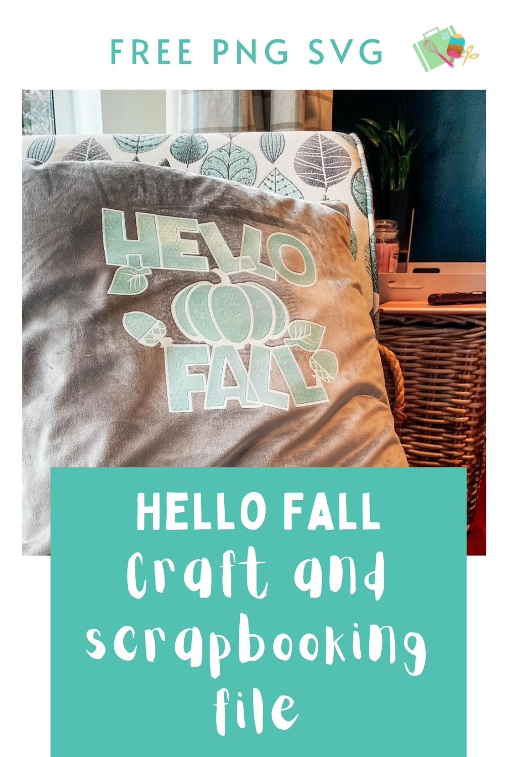 Free Hello Fall craft and scrapbooking file