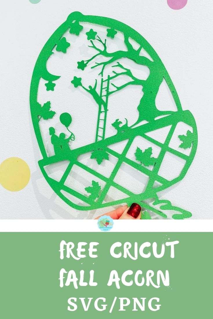 Free SVG Cricut Fall Acorn download for crafting and scrapbooking
