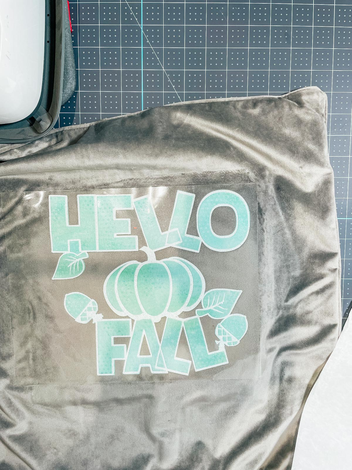 add the first layer, heat press and remove film layer then add the second