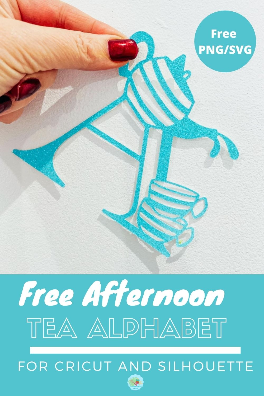 Free Afternoon Tea Alphabet SVG for Cricut And Silhouette