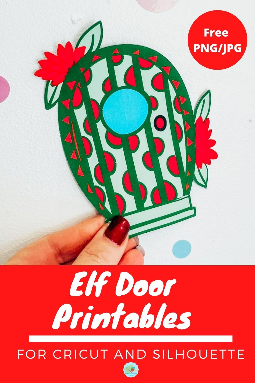 Free Elf door printables to print and cut with Cricut or silhouette -2
