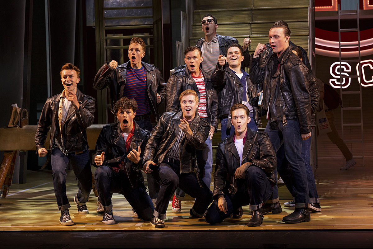 The Burger Palace Boys in Grease the Musical Tour 2021:22 , credit Sean Ebsworth Barnes